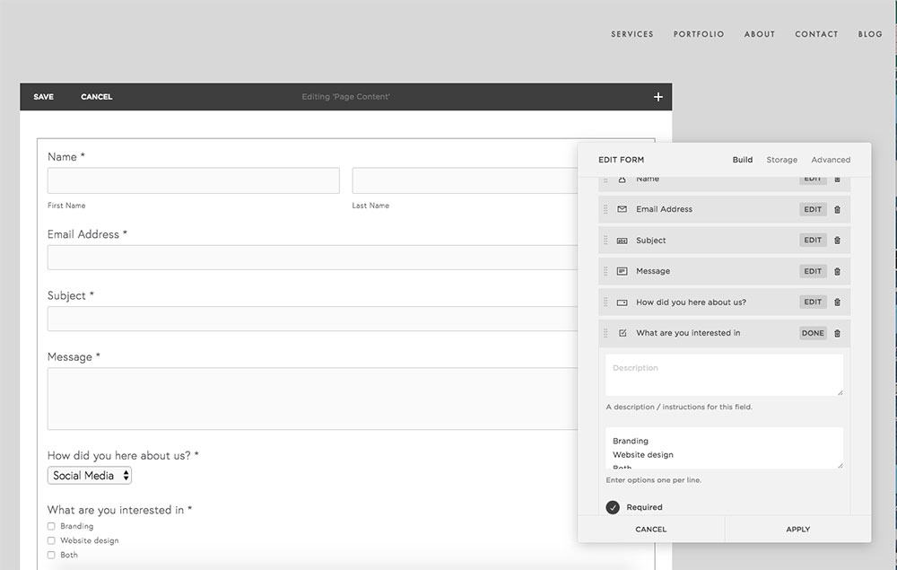 How to set up a form in Squarespace | MNFL Design