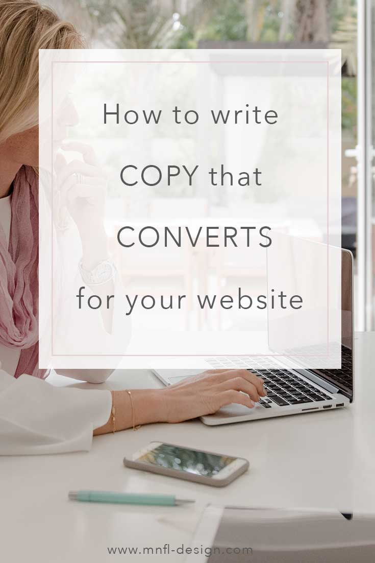 How to write copy that converts for your website | MNFL Design
