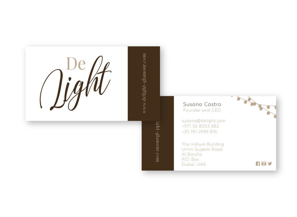 DeLight Business cards | MNFL Design