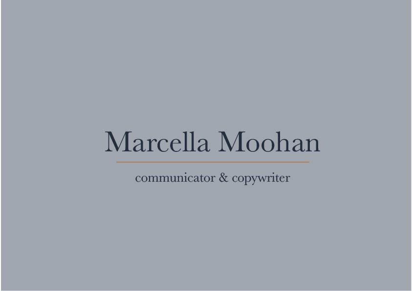 My brand and website design process for Marcella Moohan | MNFL Design