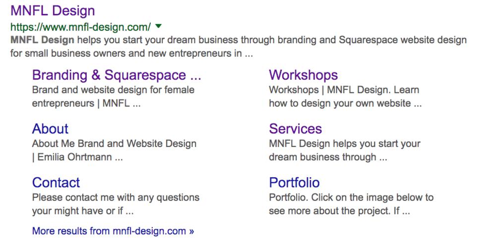 Search engine description | SEO Squarespace | MNFL Design