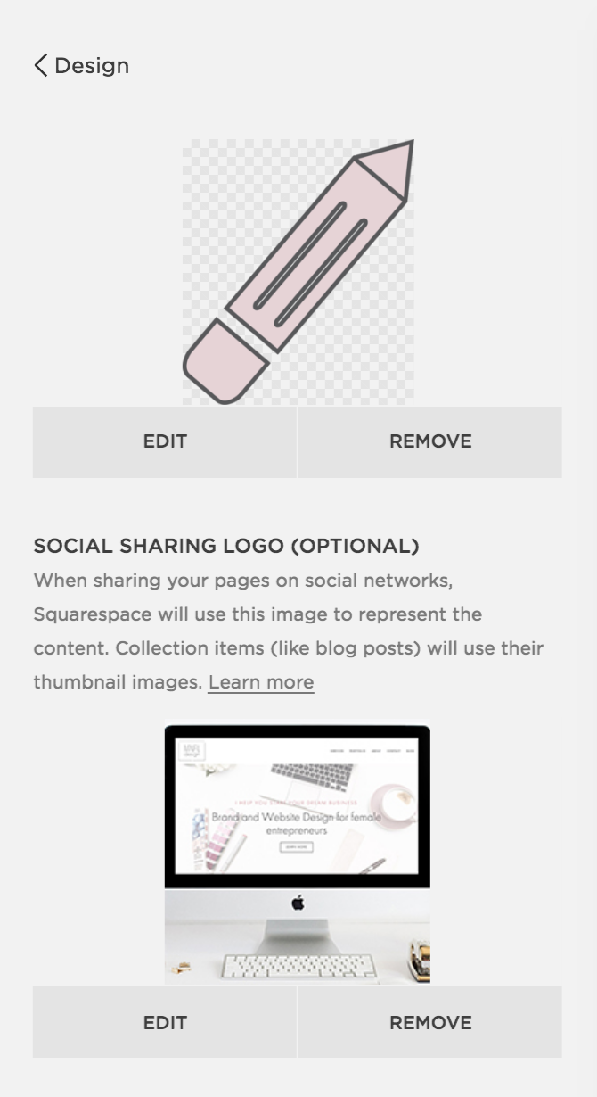 Adding social sharing image Squarespace | MNFL Design