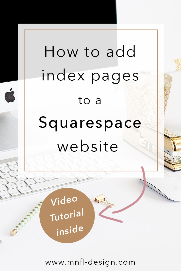 How to use index pages for Squarespace websites