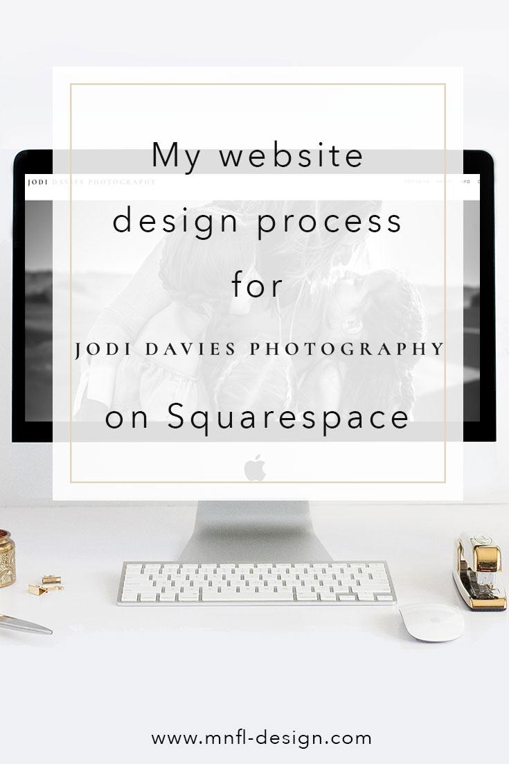 Squarespace website design for photographer