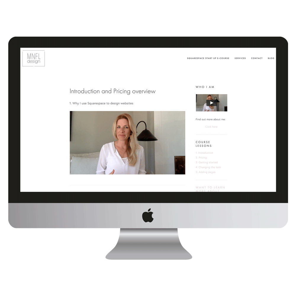 Squaresspace Start Up course