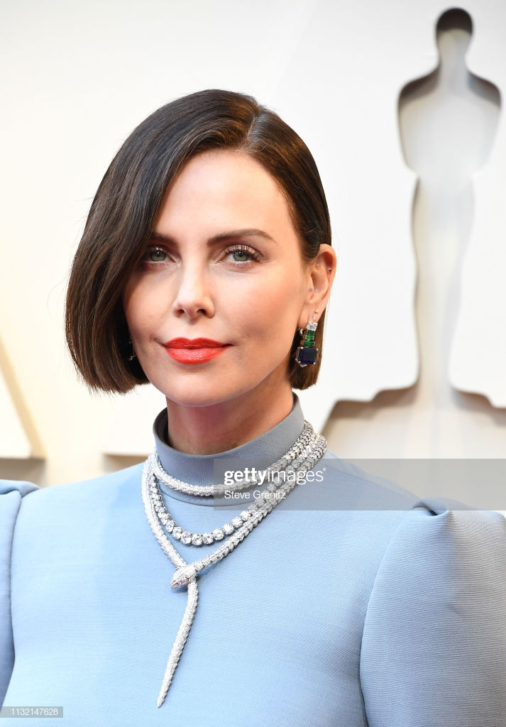 HOLLYWOOD, CALIFORNIA - FEBRUARY 24: Charlize Theron arrives at the 91st Annual Academy Awards at Hollywood and Highland on February 24, 2019 in Hollywood, California. (Photo by Steve Granitz/WireImage)