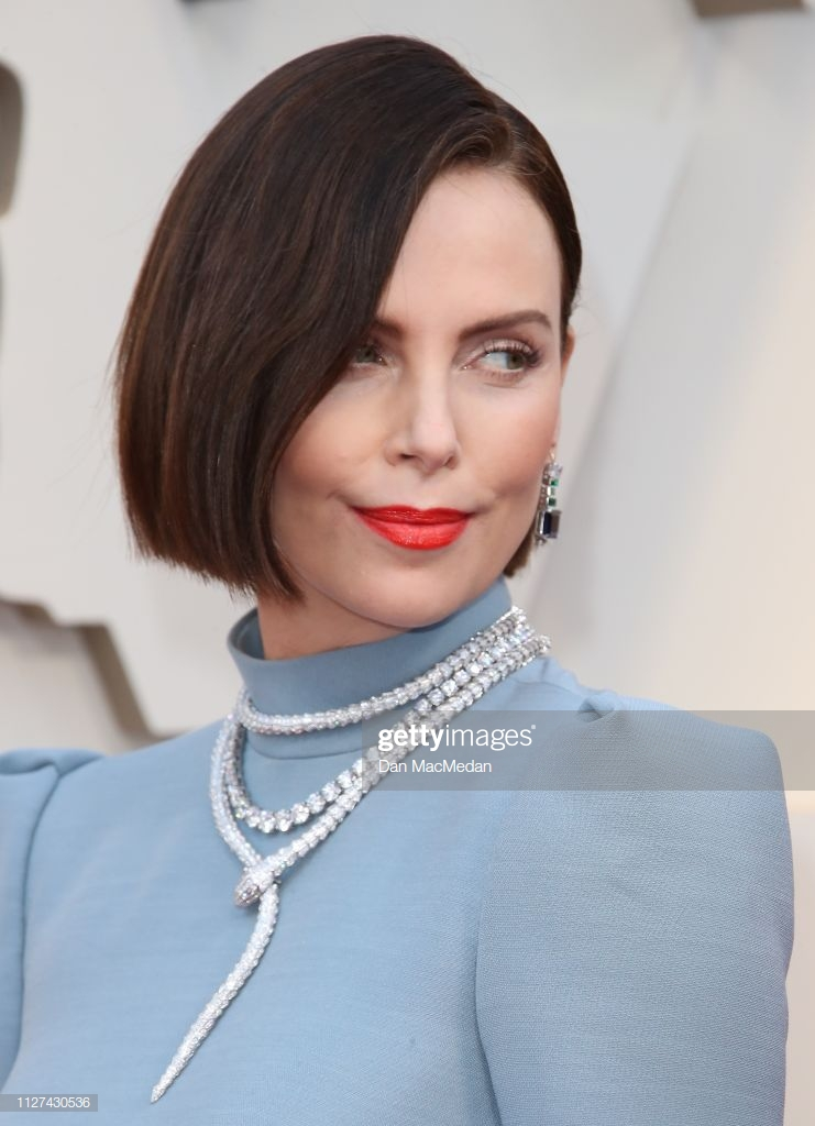 HOLLYWOOD, CA - FEBRUARY 24: Charlize Theron attends the 91st Annual Academy Awards at Hollywood and Highland on February 24, 2019 in Hollywood, California. (Photo by Dan MacMedan/Getty Images)