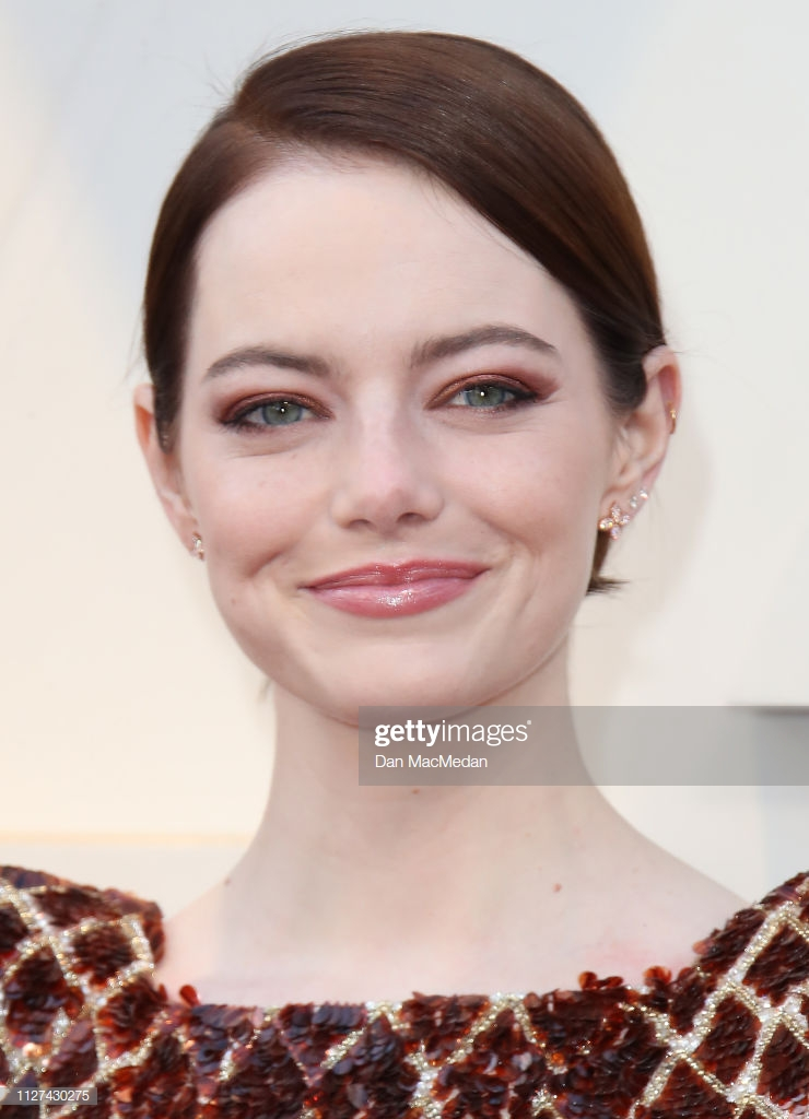 HOLLYWOOD, CA - FEBRUARY 24: Emma Stone attends the 91st Annual Academy Awards at Hollywood and Highland on February 24, 2019 in Hollywood, California. (Photo by Dan MacMedan/Getty Images)