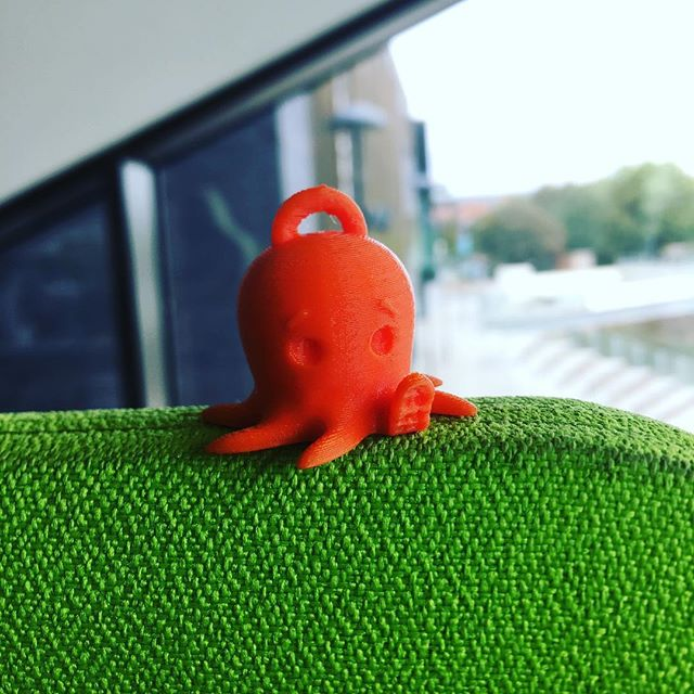 Cute little Octopus keyring! ❤️😍 Printed in a lovely lava orange from @ninjaflex3d 🛠 #3dprinting #3dprinter #instagood #fun #like #prototype #maker #engineering #productdesign #beautiful #3d #fdm #manufacturing #makersgonnamake #3dprint #future #innovation #design #designer #concept #bespoke #digital #industry #nfirelabs #electronics #custom #production #printing #3dmodel