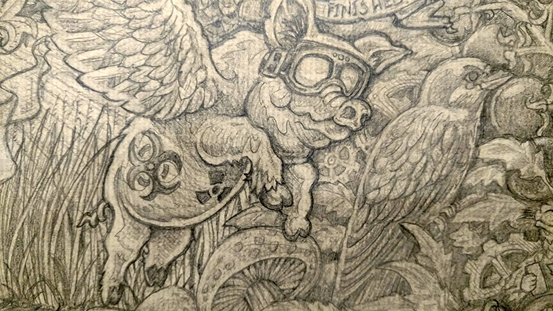 A biohazard pig