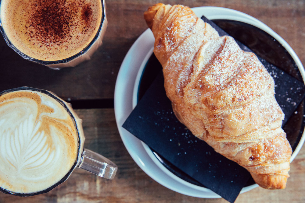 Coffee and Croissant at The Cherry Tree Pub and Restaurant Olney Buckinghamshire.jpg