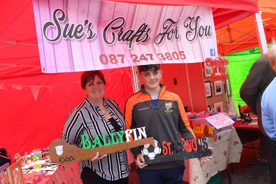 - Sue brings the most clever wooden signs in every shape make and colour for example -to match your local club colour and on which to hang your medals as well as other amazing ideas.