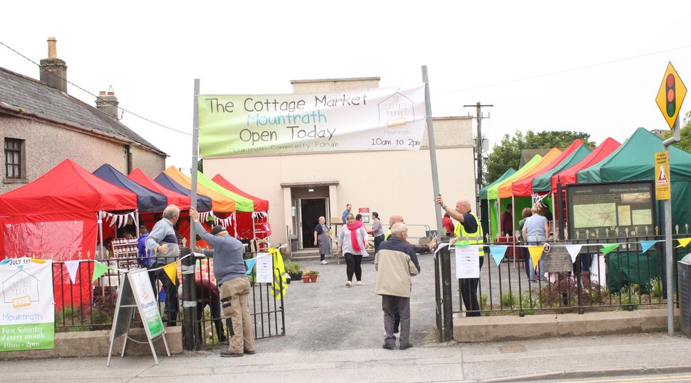 The Cottage Market, Mountrath will take place in the Macra Hall, Main Street, Mountrath Saturday 5th August 10am - 2pm