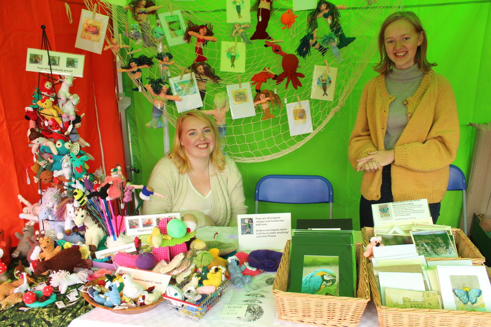 - Heather Rice brings magical toys & more - knitted mermaids, unicorns, fairies & knitted food. Also framed photos & handmade cards