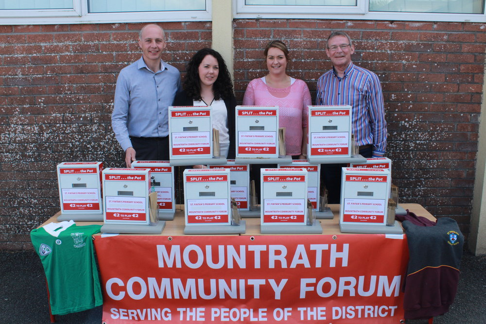 Split the Pot is a collaborative fundraising initiative between St. Fintan's National School and Mountrath Community Forum.