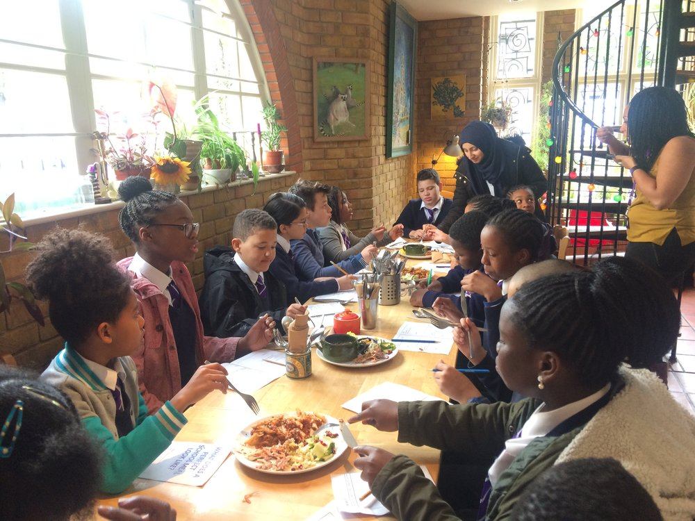 Christ Church Primary School field trip to Cafe Van Gogh