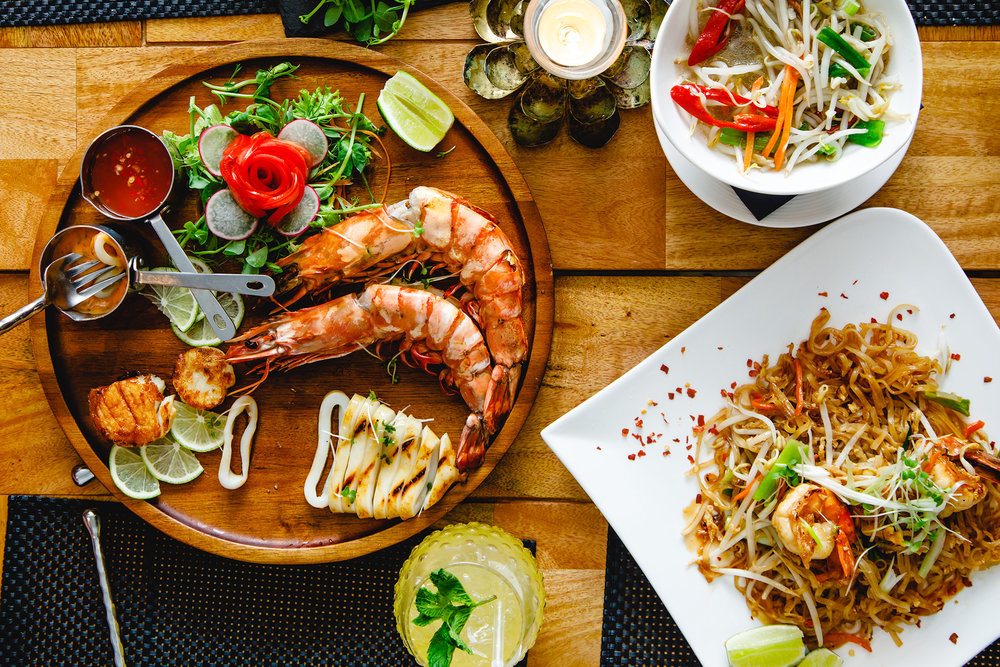 Seafood platter and Pad Thai at Sabai Sabai