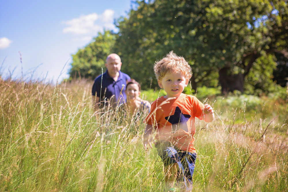 Running boy, kids photographer, Bradgate Park, Leicestershire