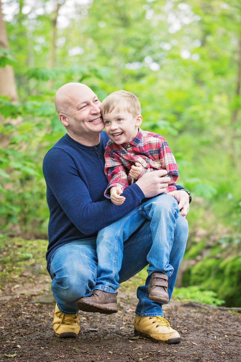 Father and son portrait, Swithland Woods, Leicestershire