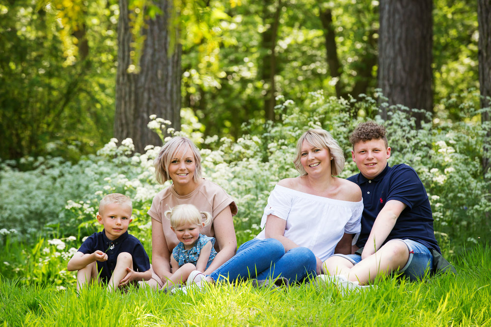 Children's and family photographer, Whatton Gardens