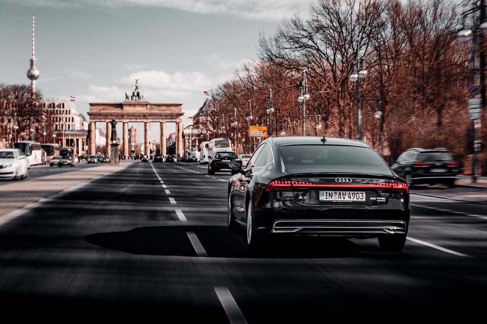 Der Audi A7 Sportback mit Serien-Exterieur.