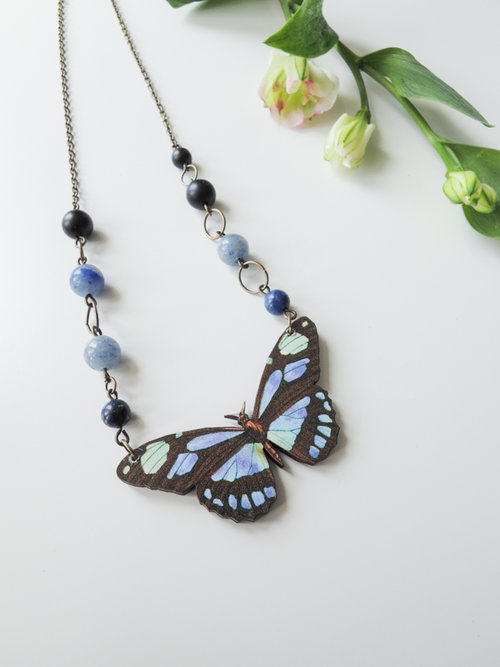 tradesy crystals swarovski other necklace blue butterfly i