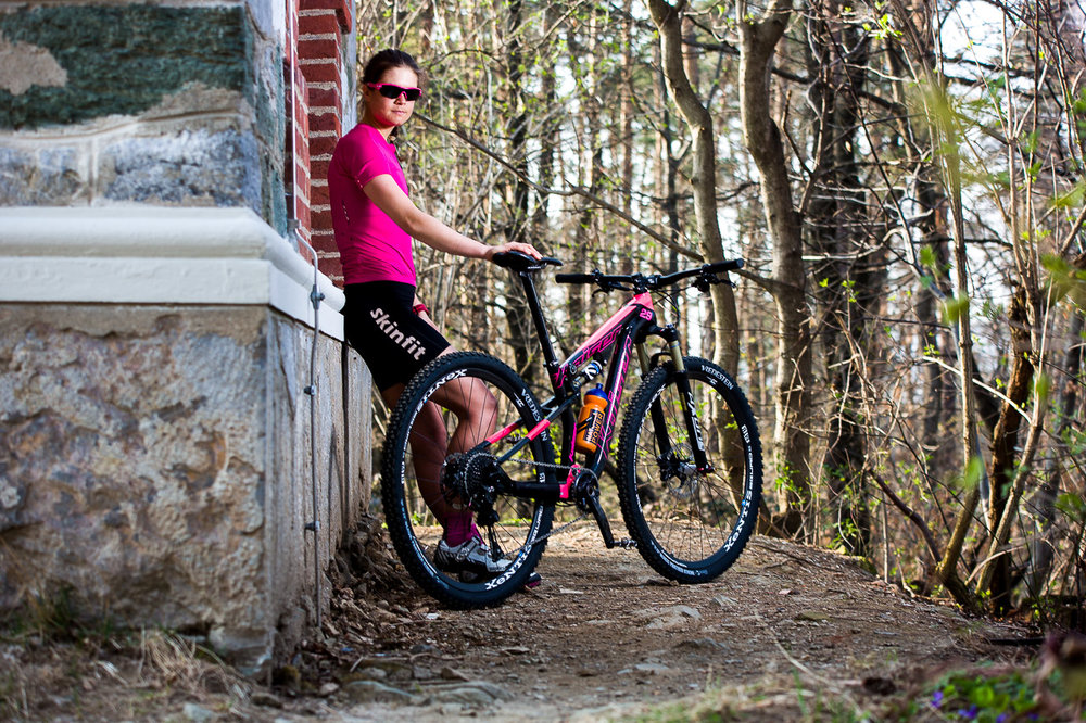 Portrait einer Mountainbikerin