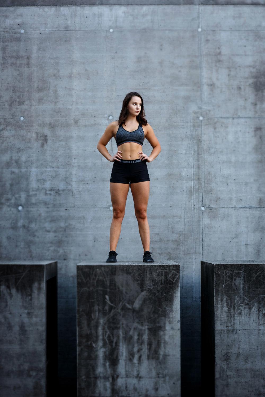 Heroisches Portrait einer Sportlerin in Graz