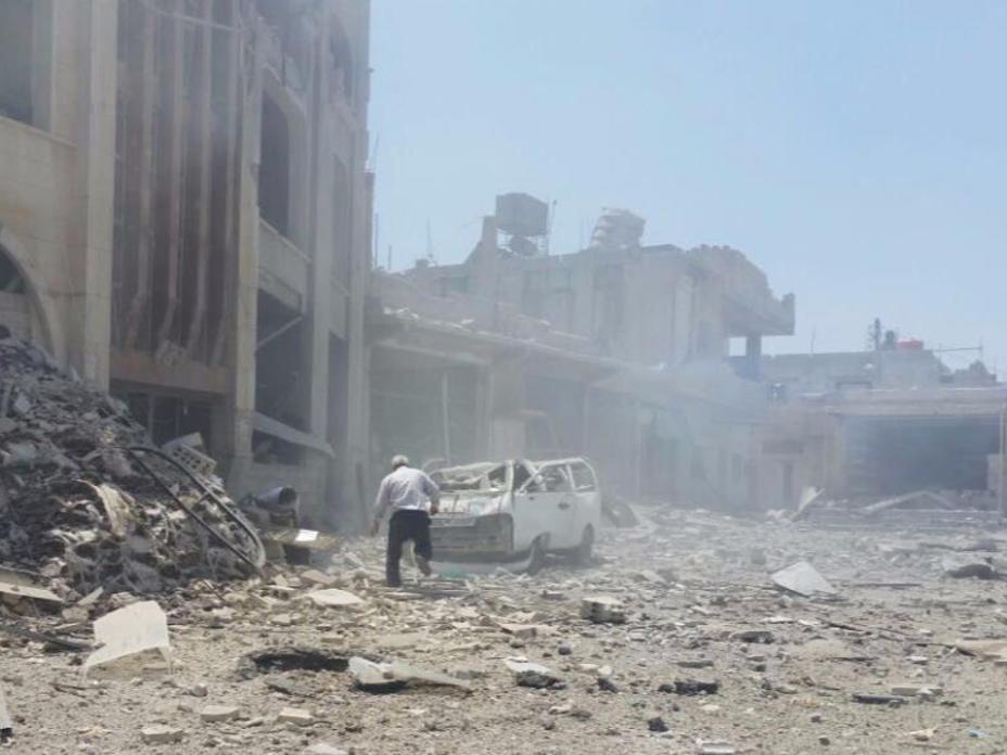 Das vom IRC unterstützte Jasim-Krankenhaus im Gouvernement Daraa in Südsyrien, getroffen während eines Luftangriffes,bietet rund 4.000 Konsultationen pro Monat in Jasim, einer Stadt mit etwa 55.000 Einwohnern.  Foto: IRC