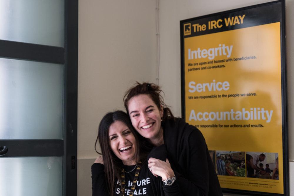 Lena im IRC Zentrum für mentale Gesundheit