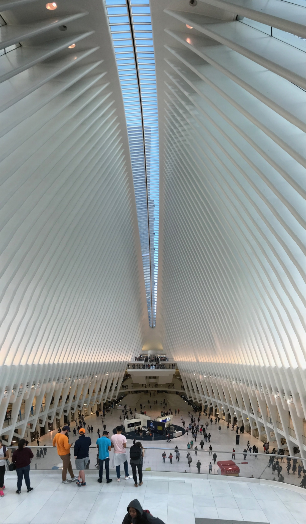 Inside the Oculus. A train station? A mall? A monument?