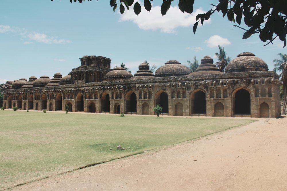 The elephant stables of Hampi.