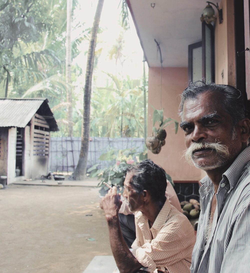 On lunch break with our two captains in Alappuzha, Kerala. On many occasions, the most open and accepting people would reveal themselves where I least expected to find them. -
