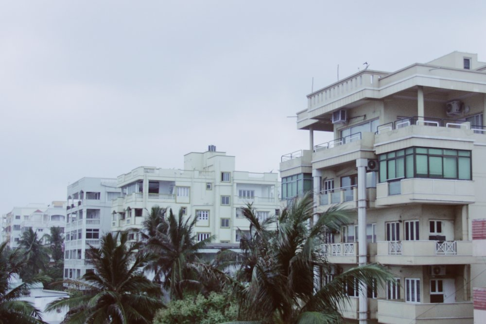 The seafront apartment blocks of Bhubaneswar.