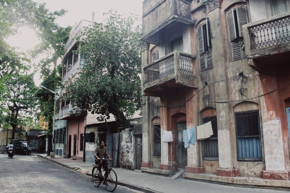 Back alleys of Kolkata, West Bengal.