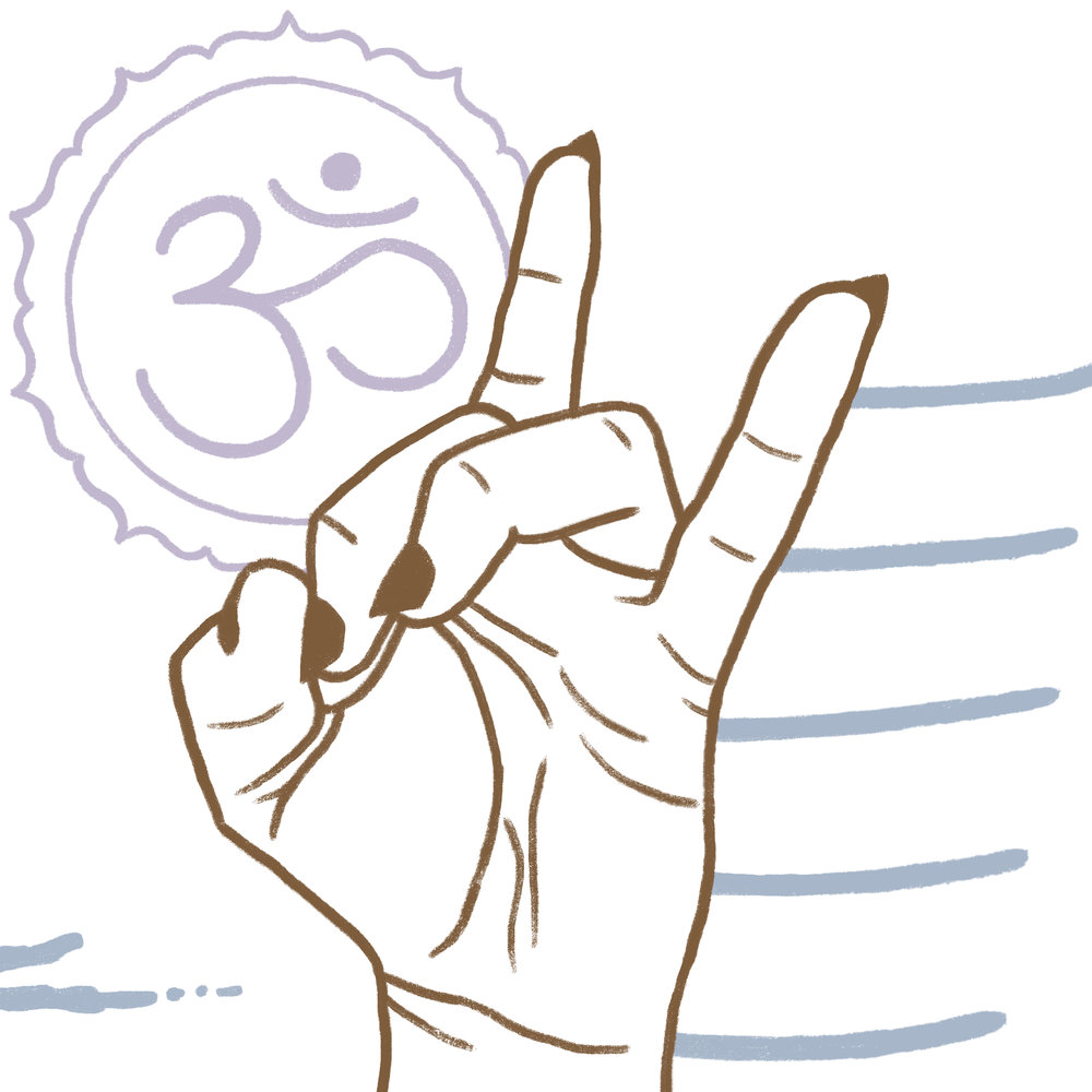 This mudra is often also referred to as the 'gesture for warding off evil' -