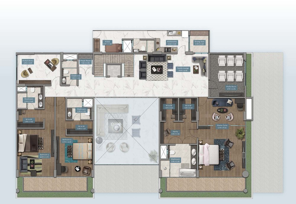 Shanzu View Garden Villa | Floorplan | No. GV1 - Level 2