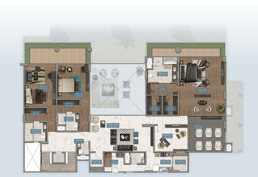 Kabete View Garden Villa | Floorplan | No. GV3 - Level 2