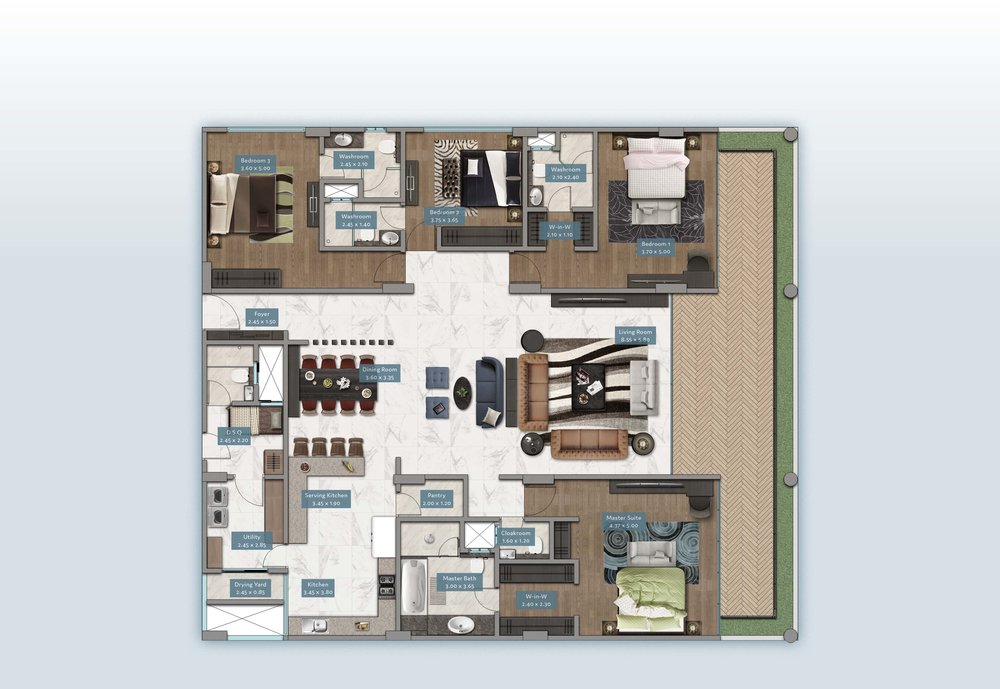 Kyuna View Home | Floorplan | No. 2 & 5