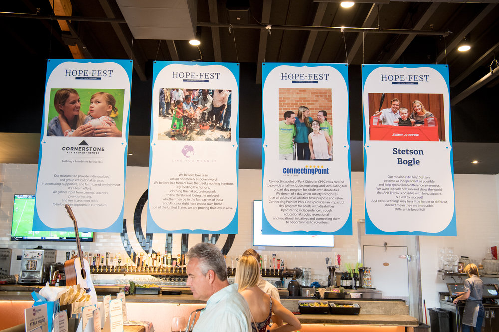Copy of Raising over $230,000, Hope Fest: Live from HARWOOD benefitted three charitable organizations for a local and global impact.