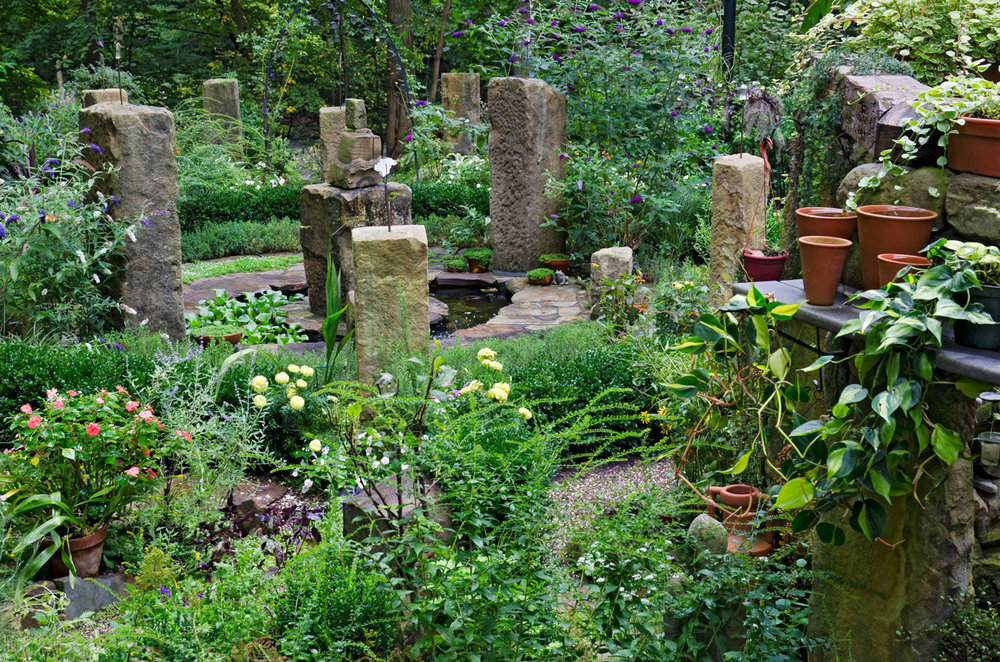 Visica Piscis Sun Clock Garden and Stone Ruin