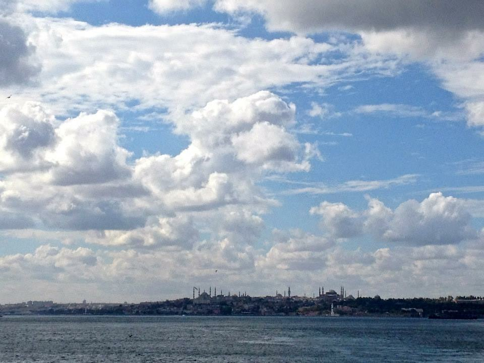 Looking back at the European shore of Istanbul on my 20-minute ferry ride to the Asian side.