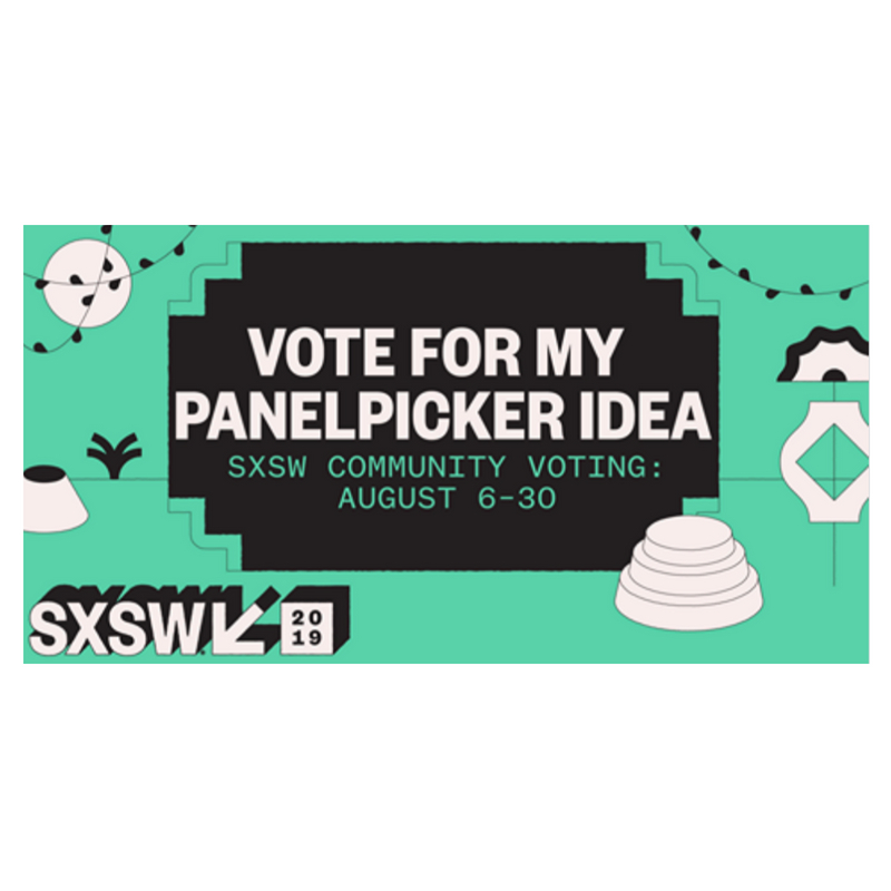 SXSW PanelPicker   Support our team and vote, comment and share our SXSW PanelPicker entry on  Harnessing the Power of Data-Driven Storytelling.
