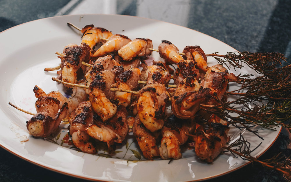 cooked bacon shrimp