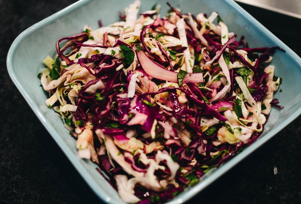 fresh cabbage slaw