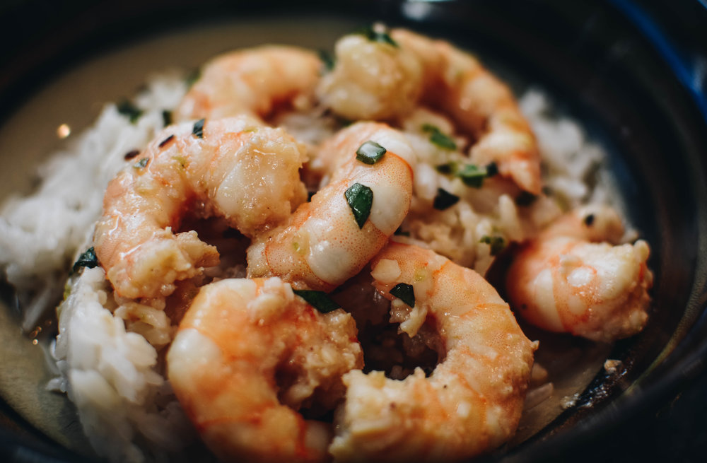 spicy shrimp cocnut milk rice