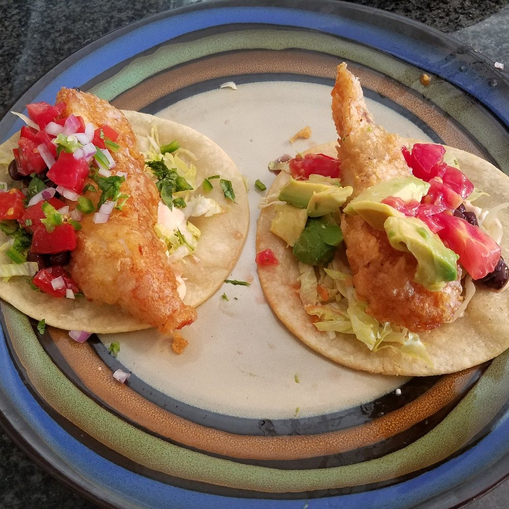 beer battered fish taco