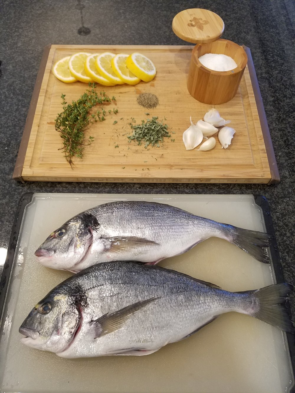 sea bream ingredients