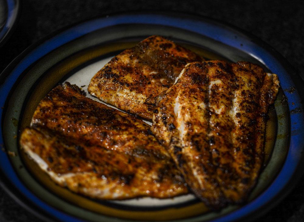 blackened fish