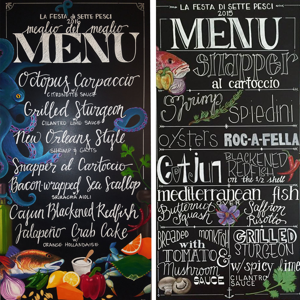 These personalized chalkboard menus were made for us by our dear friend Stacy! Check out her instagram  @thetangledsea.artistry